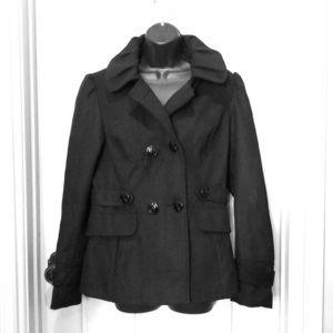 Black Hooded Pea Coat BNWT